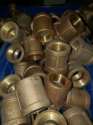 1 Brass Coupling Lot Of 5 1inch 1in One Inch Plumbing Pipe 1 Npt Female
