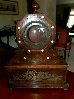 Early 19th C Regency Rosewood Clock Frame Inlaid w Brass & MOP Circa 1820
