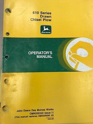 John Deere Operators Manual 610 Series Drawn Chisel Plow Omn200322 Used