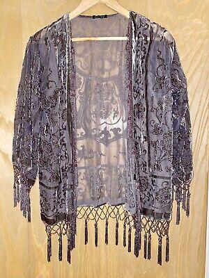 New Jayley Silk Kimono Grey RRP £75