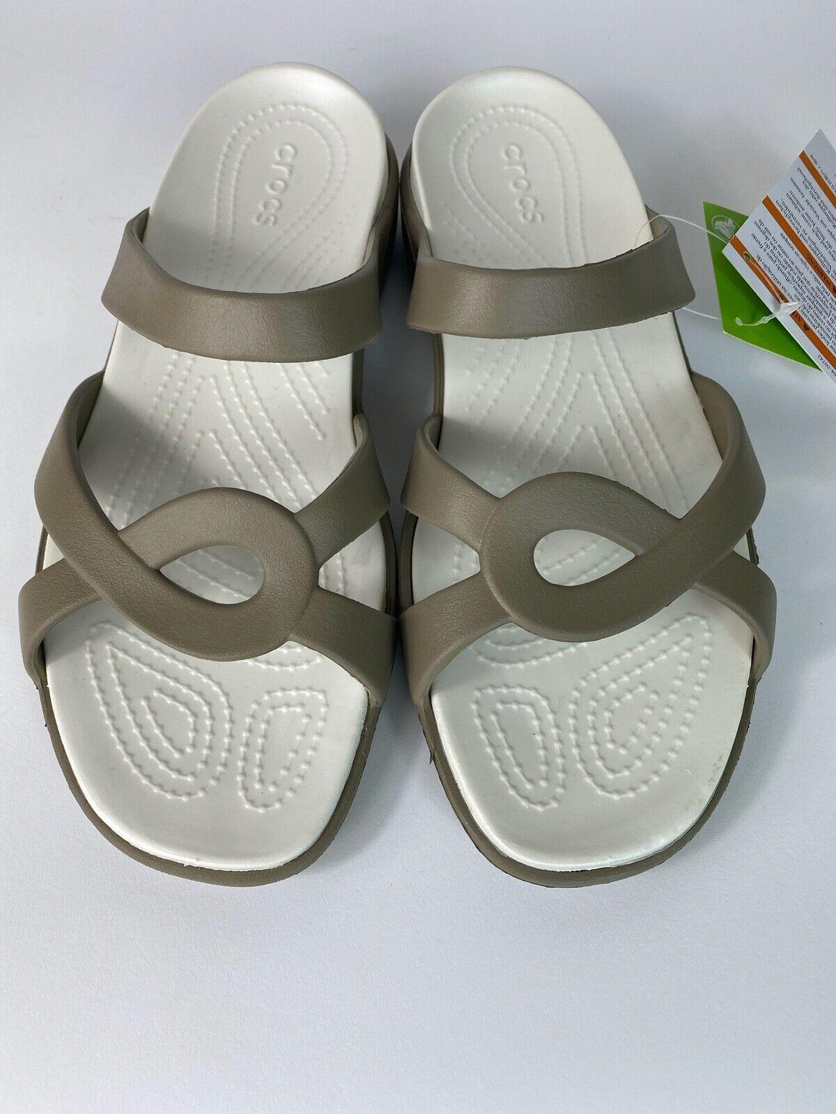 Crocs Women's Meleen Twist Sandal Color Khaki/Oyster 202497-