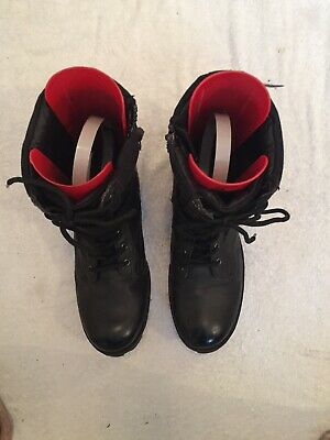 J75 By Jump Black Combat Trooper Lace Zip Up Military Boots Size 10.5