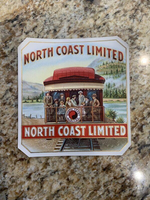Super Rare 1920's North Coast Limited Railroad Train Caboose Cigar Label