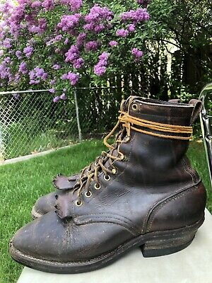 Hathorn Boots Mens Brown Leather Packer Logger Work Boots Size 8 C 🇺🇸