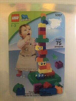 Lego Duplo Quatro 5357 Bucket 74 Pieces Large-Sized Bricks smoke-free home GC