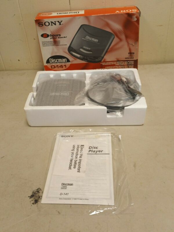 NEW Sony D-141 Discman CD Compact Portable Player Mega Bass Walkman W/ Headphone