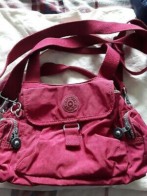 Ladies Dark Pink Kipling Handbag