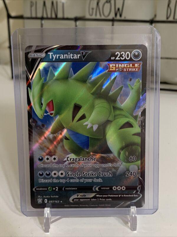 Tyranitar V 097/163 Nm Mint Battle Styes Ultra Rare Holofoil Rare Holo Pokemon