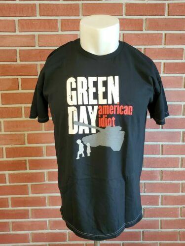 Green Day American Idiot Cinder Block 2005 Short Sleeve Band T-Shirt Mens XL EUC
