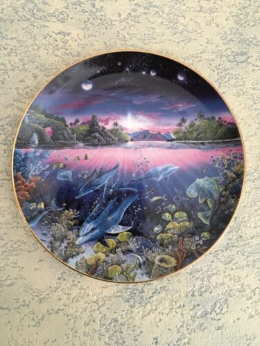 Danbury Mint Robert Lyn Nelson Underwater Paradise Plate Search For Harmony