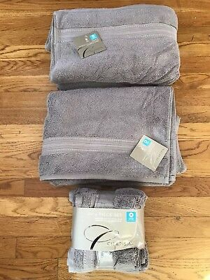 6PC LOT: 2-Charisma 30x58 Plush Bath Towels 2-Hand & 2-Wash Cloths NEW