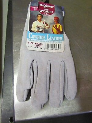 New Wells Lamont Women Cowhide Heavy Duty Work Garden Gloves Small Long 1013sl
