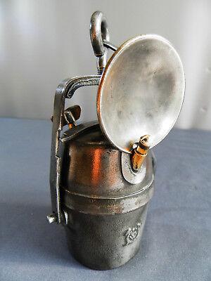 Acetylen Karbid Tönnchen Hutlampe Grubenlampe Miners Lamp Lampe de Mines Bergbau