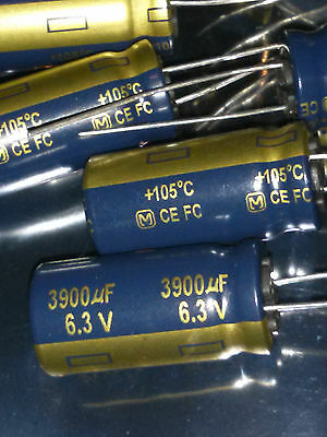 Qty 10 Pieces-panasonic Electrolytic Capacitors- 3900uf 6.3 V 20