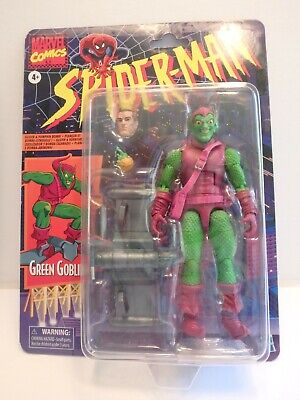 Marvel Legends Green Goblin with Glider, Spiderman Retro Wave 1, Mint on Card