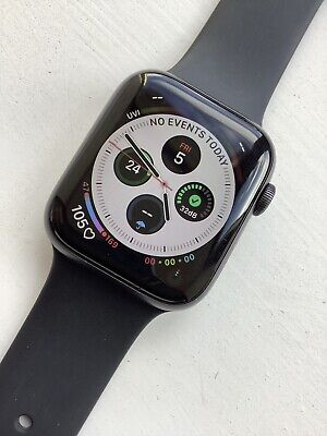 Apple Watch Series 4 44 mm Space Grey Aluminum Case with Black Sport Band (GPS)