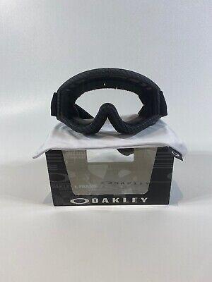 Oakley L-Frame Mx Carbon Fiber Clear Lens Off Road Dirt Bike Motocross (Oakley Carbon Fiber Goggles)