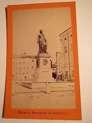 Salzburg - Mozart's Monument - ca. 1870er Jahre / CDV
