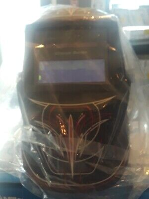 Miller Electric Welding Helmet Auto-darkening Type Nylon 271349 Blackredwhite