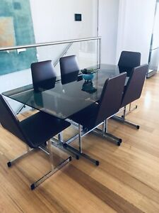 Mid Century 6 seat dining table and chairs