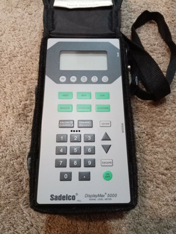 Sadelco DisplayMax 5000 Signal Level Meter Used with Case + TESTED!