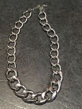 Silver toned colour curb necklace  (not silver) Baulkham Hills The Hills District Preview