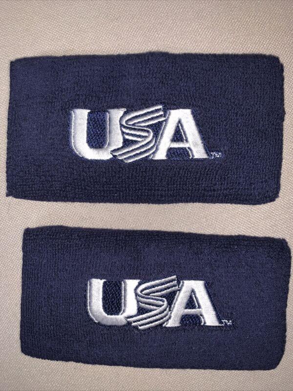 "Franklin Professional USA Baseball 6"" Wristbands (15.2 cm) Pair Pack Navy Blue"