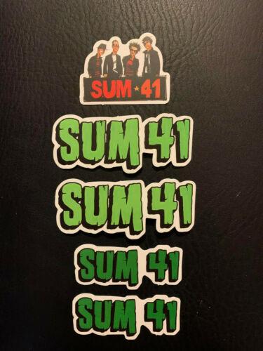 "Lot of 5 SUM 41 Green/White 3 1/2"" x 1 1/2"" Band Logo Sticker FAST! FREE SHIP!"