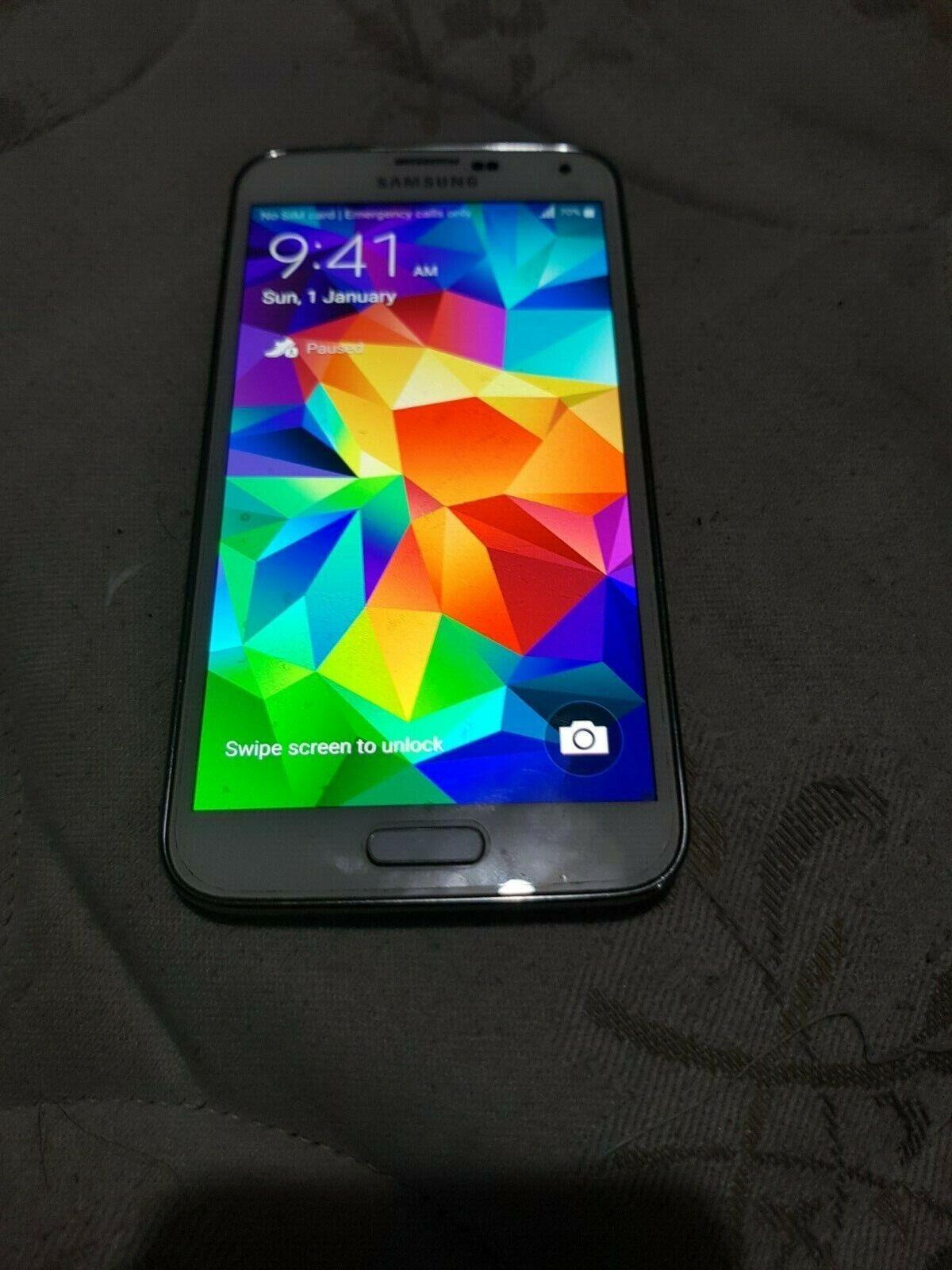 Android Phone - Samsung Galaxy S5 SM-G900I Phone White UNLOCKED