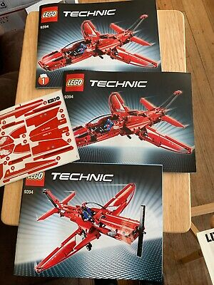 LEGO TECHNIC JET PLANE 9394 INSTRUCTION BOOKLETS AND STICKERS ONLY