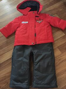 Disney cars two piece snow suit- brand new