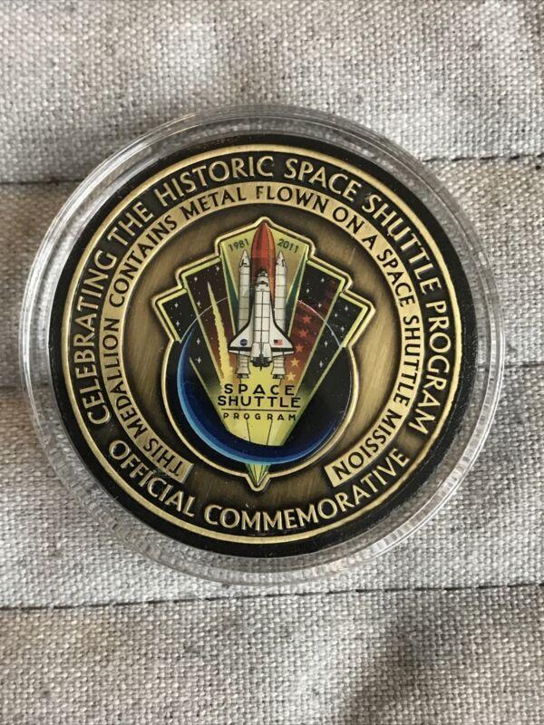 NASA Space Shuttle Program Flown Metal Coin Medallion Medal Challenge Coin