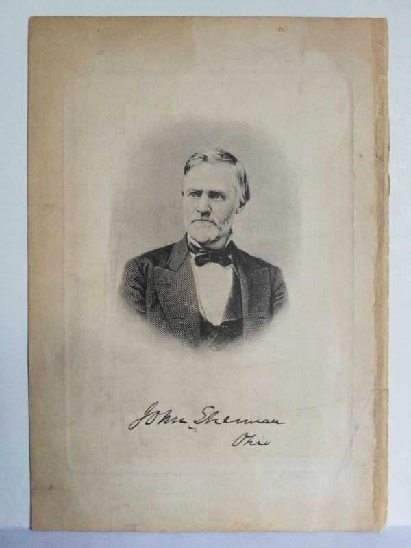 """John Sherman Secretary of State Ohio Signed Autographed Photo 9.5"""" X 6.5"""""""