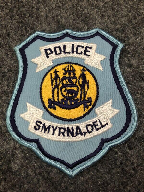 Smyrna Police patch Delaware DE PD old