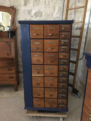 Antique Hardware Store Rotating Nut and Bolt cabinet