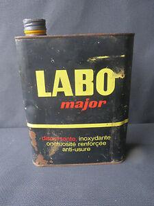 ancien bidon d 39 huile labo major deco garage vintage annees 1950 french antique ebay. Black Bedroom Furniture Sets. Home Design Ideas