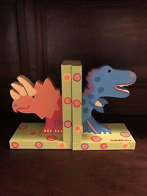 Tatutina Dinosaur Childrens Bookends Wood Child Decor T Rex Hand Made - Dinosaur Bookends