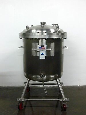 Precision 500 Liter 316l Stainless Steel Reactor Pressure Vessel Rated 60 Psi