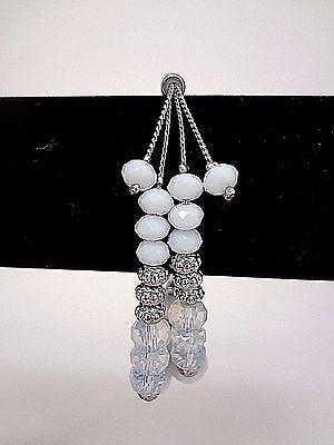 WHITE HOUSE BLACK MARKET White Beaded Friendship Bracelet - Silvertone - NWT  ](Beaded Friendship Bracelets)