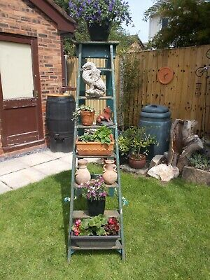 6ft - 7 RUNG VINTAGE STEP LADDER LIGHTLY WAXED