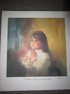Donald Zolan A Christmas Prayer Signed Numbered Print 1989 Large