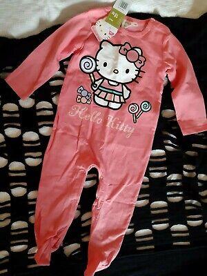 g Strampler Anzug Gr.86 in rosa für Babys 100% Baumwolle NEU (Hello Kitty Strampler)