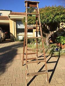 Tall wooden ladder Scarborough Stirling Area Preview