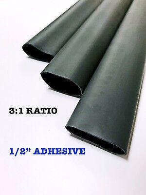 4 Ft. Black 12 13mm Dual-wall Adhesive 31 Ratio Heat Shrink Tubing M230534
