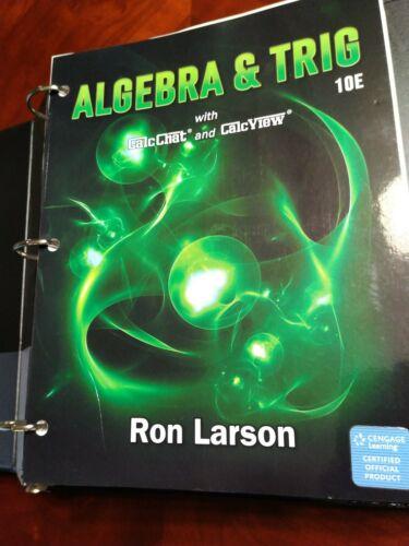 Algebra Trig By Ron Larson 10th Edition - $50.00