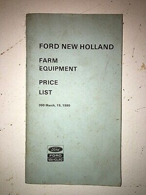 Ford Farm Equipment Price List Oem Used Good Condition