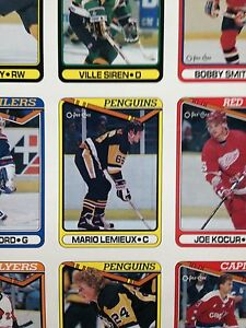 1990/91 O-Pee-Chee OPC Hockey Uncut Sheets Complete Set Stratford Kitchener Area image 5