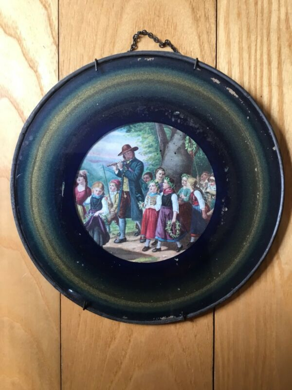 Victorian Antique May Day Parade Children Flute Piccolo Chimney Flue Wall Cover