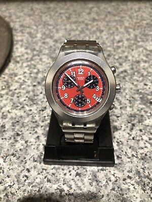 Mens vintage Swatch Irony Diaphane chronograph watch