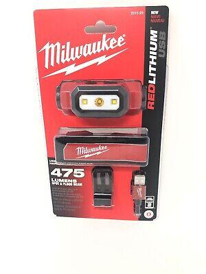 Milwaukee 2111-21 USB Rechargeable 475 Lumens Headlamp